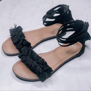 Justice Suede Sandals